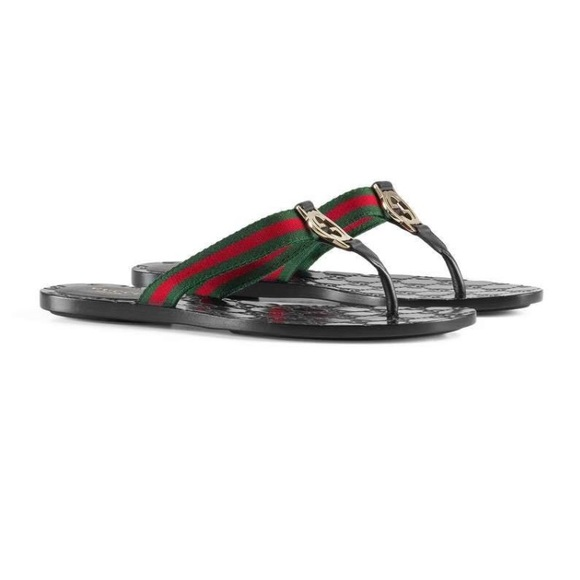 8d90503a1a8 Gucci Shoes - GG Thong Web Sandal Size 39